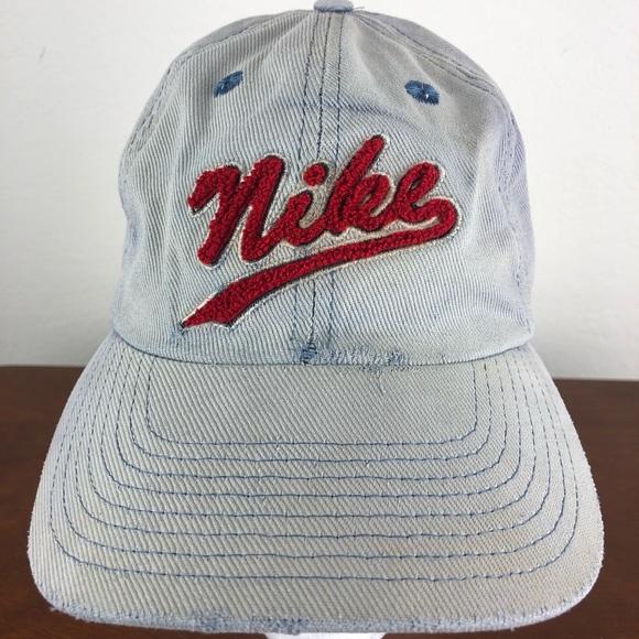 e14766f65 Vintage 90s Denim Nike Hat Cap